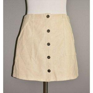 BANANA REPUBLIC Canvas A-line Button Front Skirt